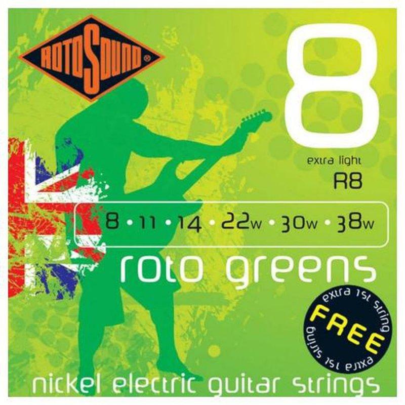 Image of   Rotosound R8 El Guitar Strenge Sæt 8-38