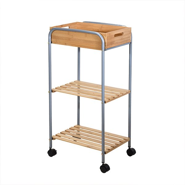 Modernistisk Rullebord Til Badeværelset I Bambustræ Og Metal → Køb billigt her GT35