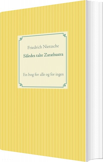 Image of   Således Talte Zarathustra - Friedrich Nietzsche - Bog