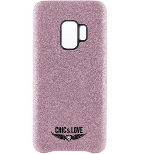 Image of   Samsung S9 - Cover - Chic & Love - Glitter Pink
