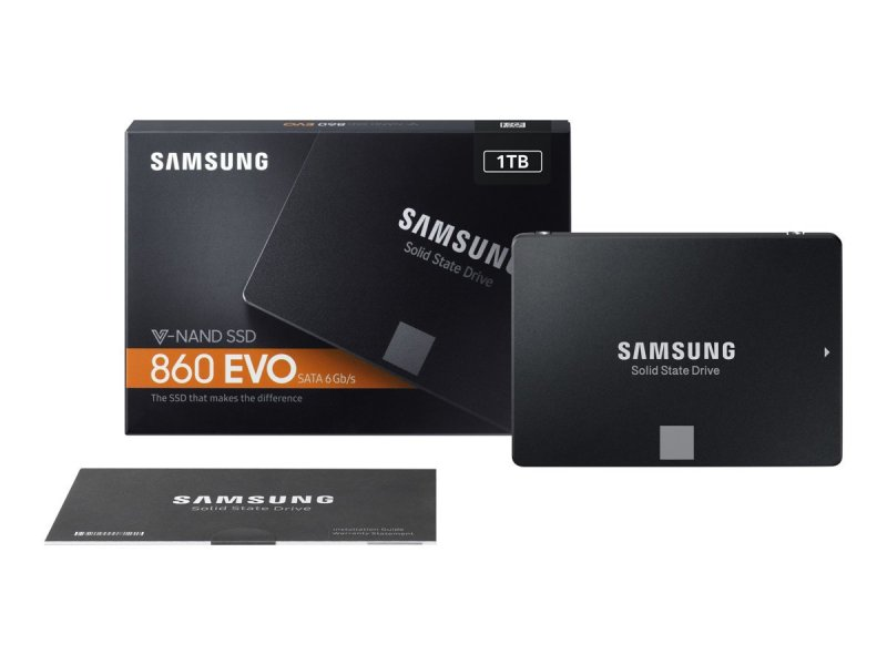 "Image of   Samsung - Solid State Drive - V-nand Ssd 860 Evo - 1tb - 2.5"" Sata"