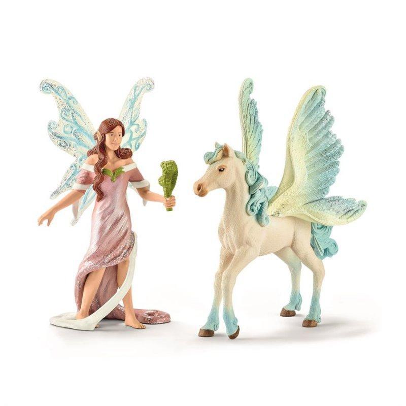 Image of   Schleich 70539 - Safenja Alf Og Pegasus-føl