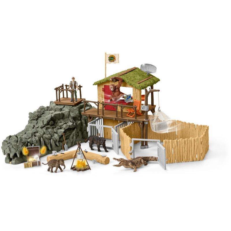 Schleich - Croco Jungle Forskningsstation - 42350