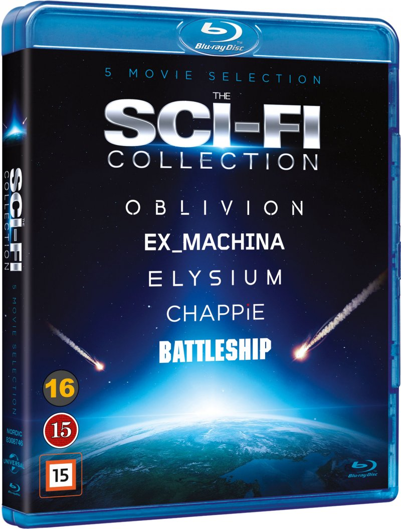 Image of   Elysium // Oblivion // Ex_machina // Chappie // Battleship - Blu-Ray