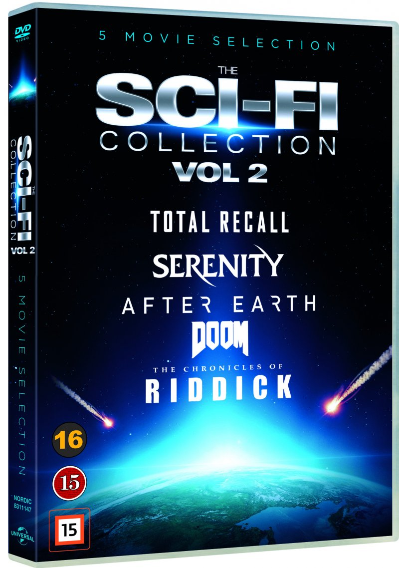 Billede af Doom // Serenity // Total Recall // After Earth // The Chronicles Of Riddick - DVD - Film