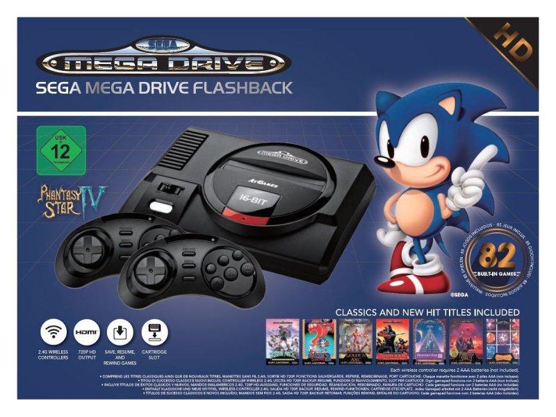 Image of   Sega Mega Drive Flashback Hd Konsol Inkl. Trådløse Controllere