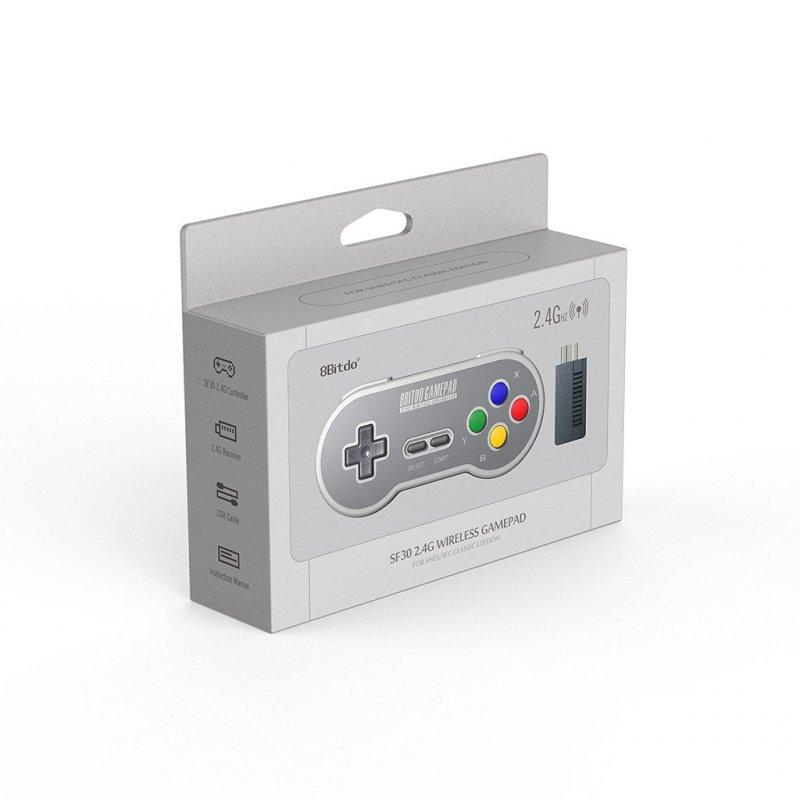 Image of   8bitdo - Sf30 2.4g - Trådløs Gamepad Controller Til Sfc Og Snes - Grå