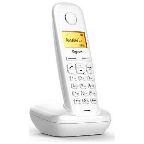 Image of   Siemens - Trådløs Fastnettelefon - Gigaset A170 - Hvid