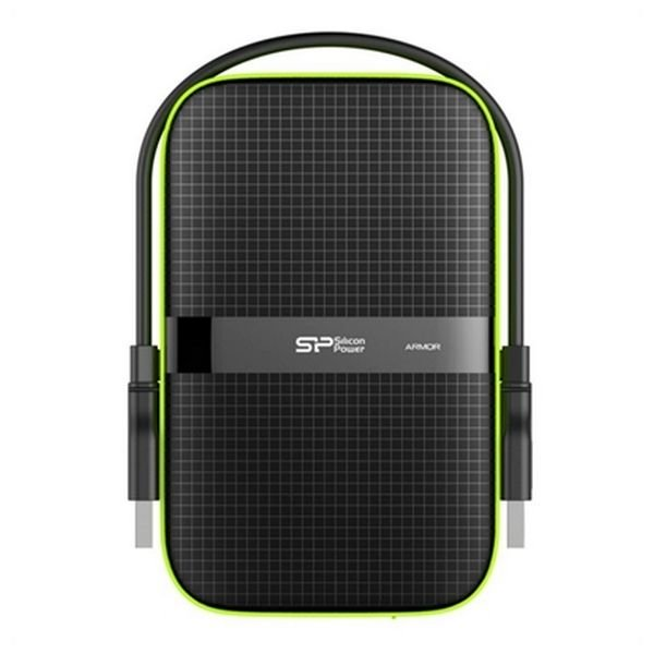 "Image of   Silicon Power Armor A60 - Ekstern Harddisk Hdd - 3 Tb - 2,5"" Usb 3.0 - Sort"