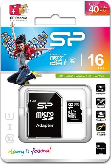 Image of   Silicon Power - Micro Sd Kort - 16gb Uhs-1 I Class 10