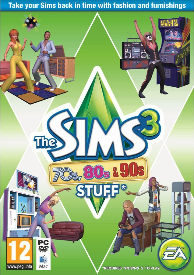 Image of   The Sims 3 - 70s, 80s And 90s Stuff (dk) - PC