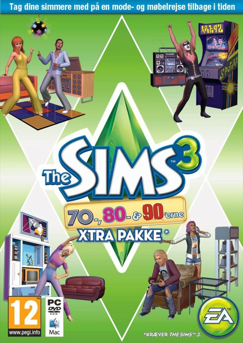 Image of   Sims 3: 70s, 80s, & 90s Stuff Pack (no) - PC