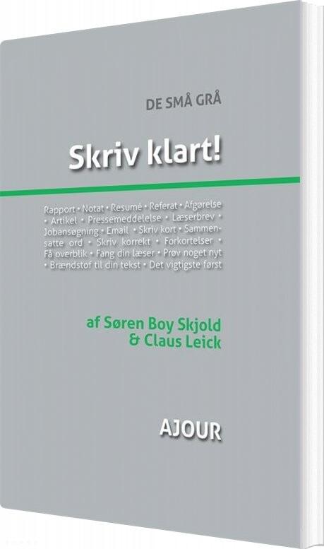 Billede af Skriv Klart! - Claus Leick - Bog