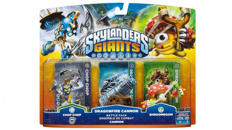 Image of   Skylanders Giants Battle Pack - Shroomboom / Cannon / Chop Chop