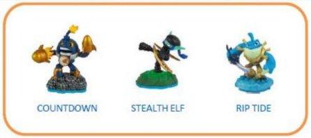 Image of   Skylanders Imaginators Figurer - Countdown, Stealth Elf & Riptide