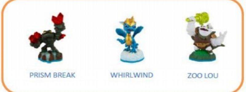 Image of   Skylanders Imaginators Figurer - Prism Break / Whirlwind / Zoo Lou