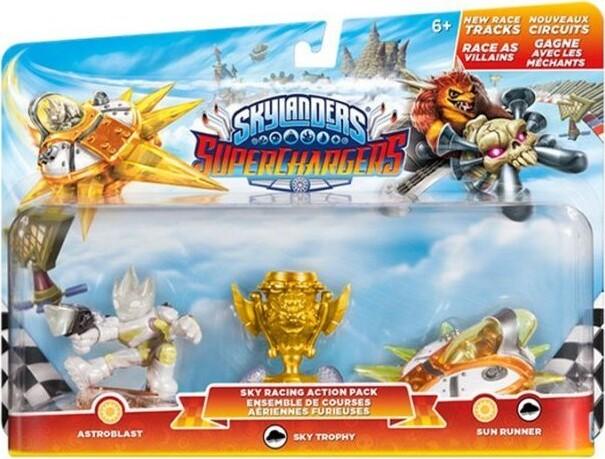 Image of   Skylanders Superchargers Racing Sky Pack Med 3 Figurer