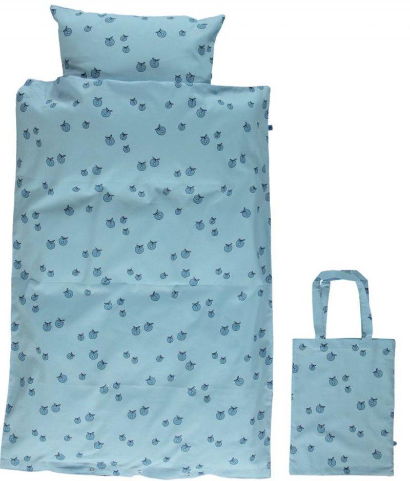 Frisk Småfolk - Junior Sengetøj - 100x140 Cm. - Air Blue → Køb billigt her BA-44