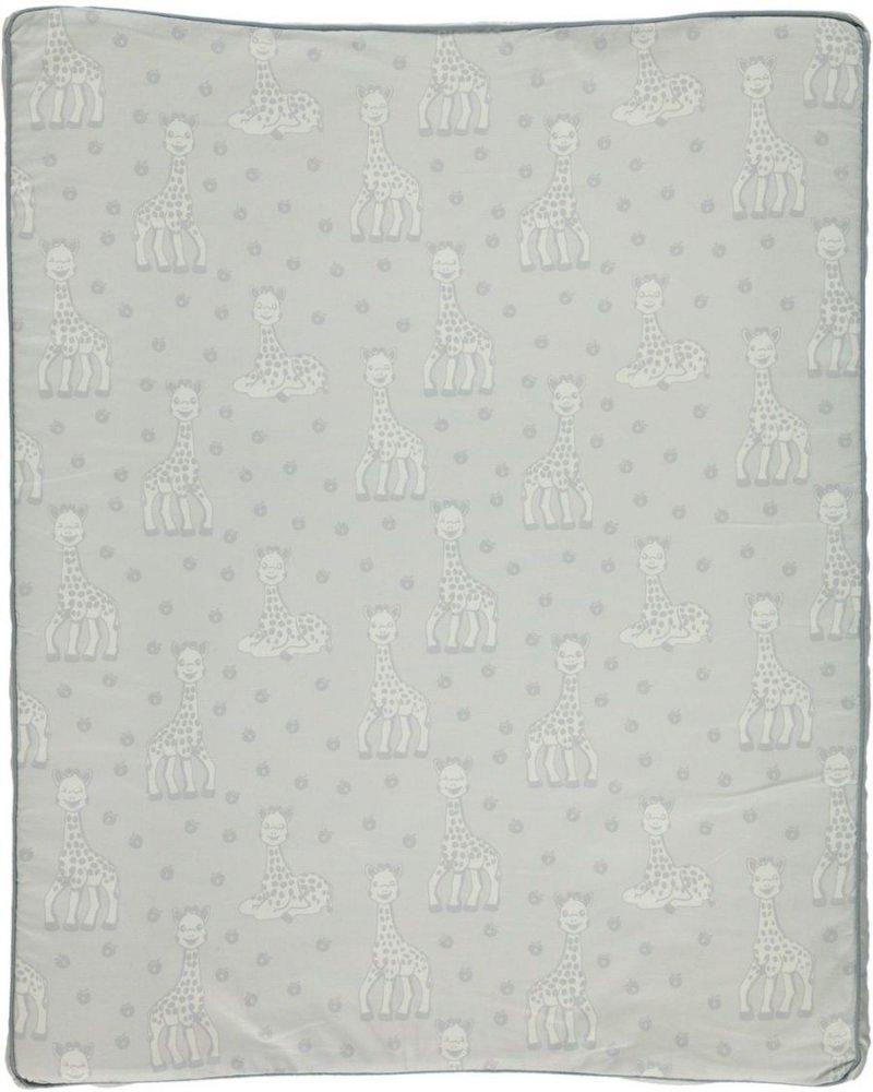 Småfolk - Puslehynde M. Sophie La Girafe Print - Dawn Blue