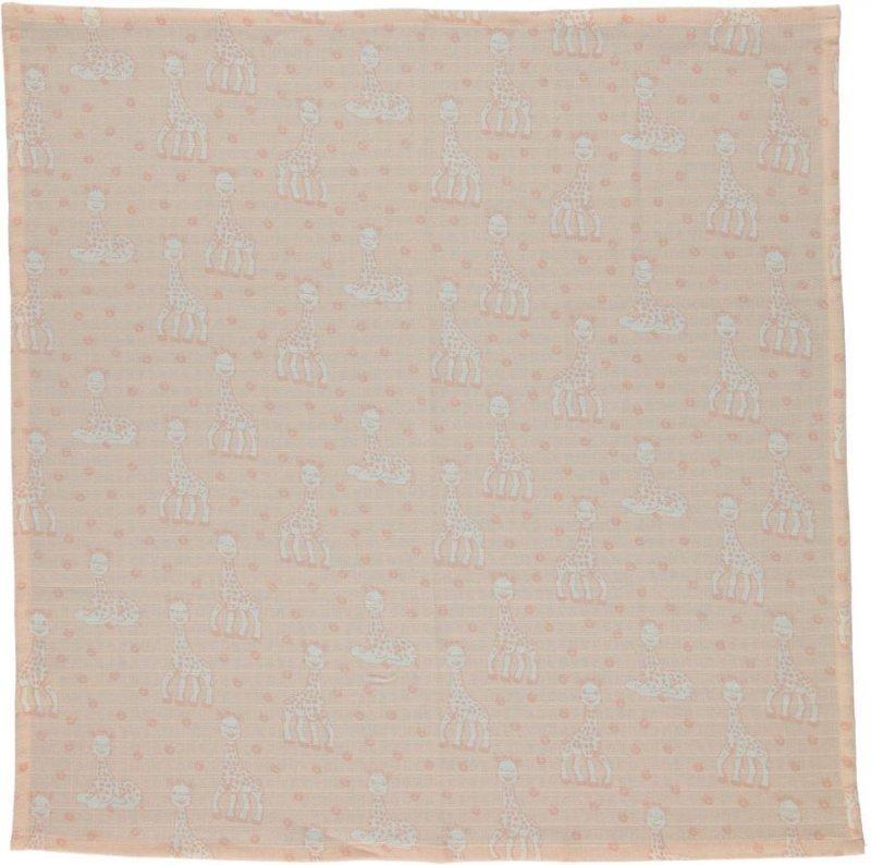 Småfolk - Stofble M. Sophie La Girafe Print - Pale Blush