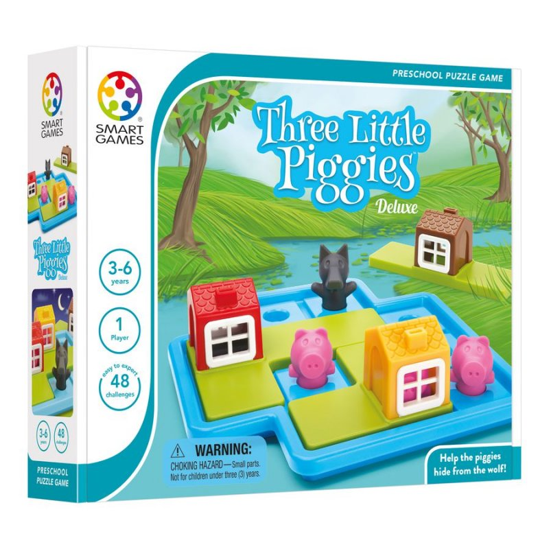 Image of   Smart Games Spil - Three Little Pigs