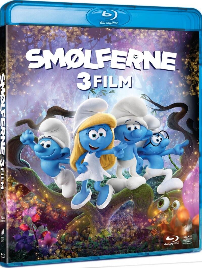 Image of   Smølferne 1 // Smølferne 2 // Smølferne 3 - Den Hemmelige Landsby - Blu-Ray