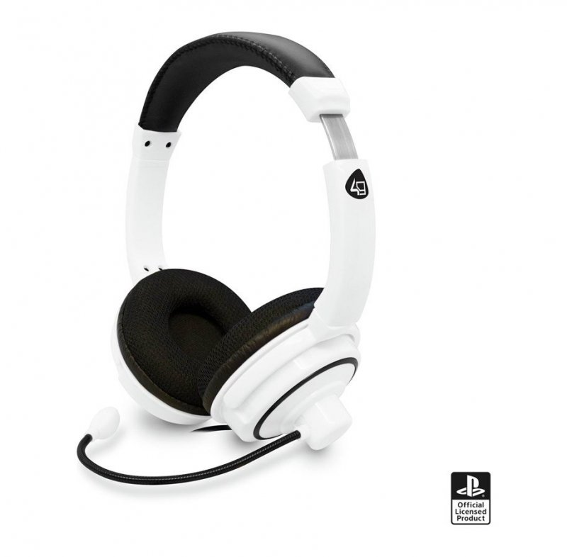 Image of   4gamers Pro4-40 - Stereo Gaming Headset Til Ps4 - Hvid