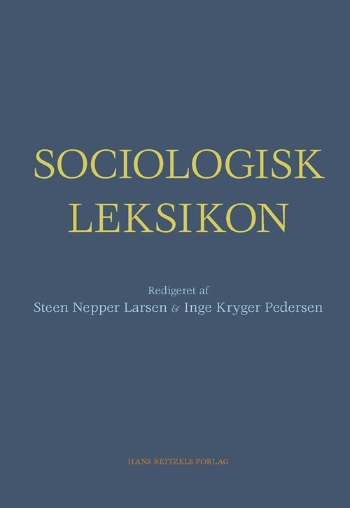 Image of   Sociologisk Leksikon - Inge Kryger Pedersen - Bog