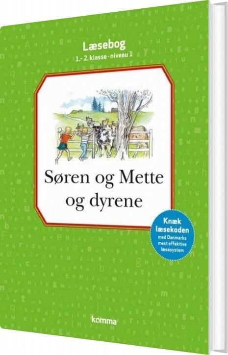 Image of   Søren Og Mette Og Dyrene - Læsebog 1.-2. Kl. - Knud Hermansen - Bog