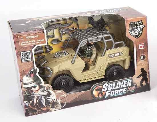 Image of   Soldier Force Legetøj - ørken Jeep