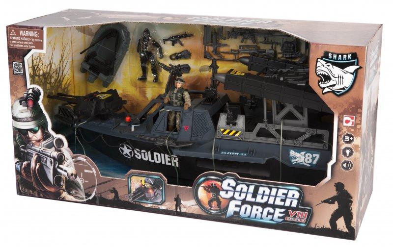 Image of   Soldier Force Legetøj - Tornado Assault Boat Legesæt