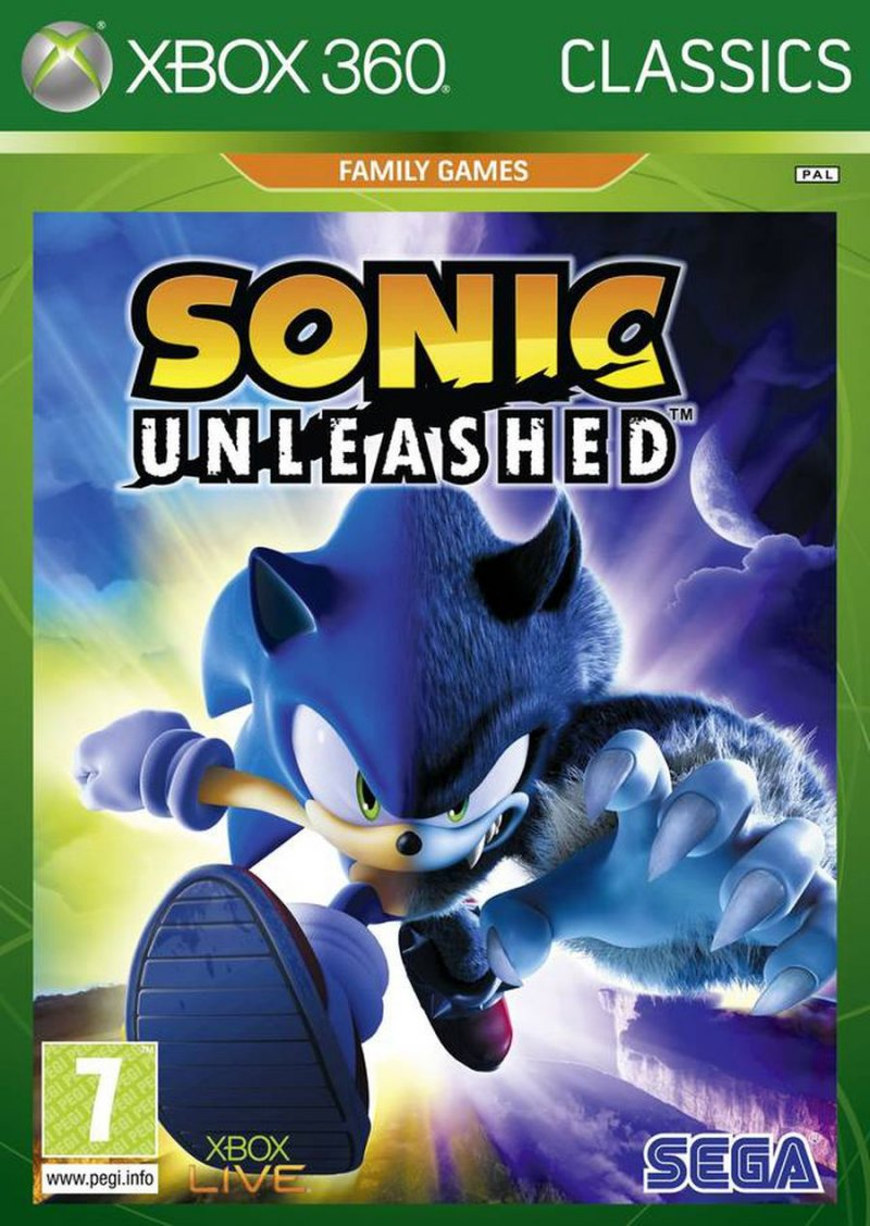 Image of   Sonic Unleashed (nordic) (classics) - Xbox 360