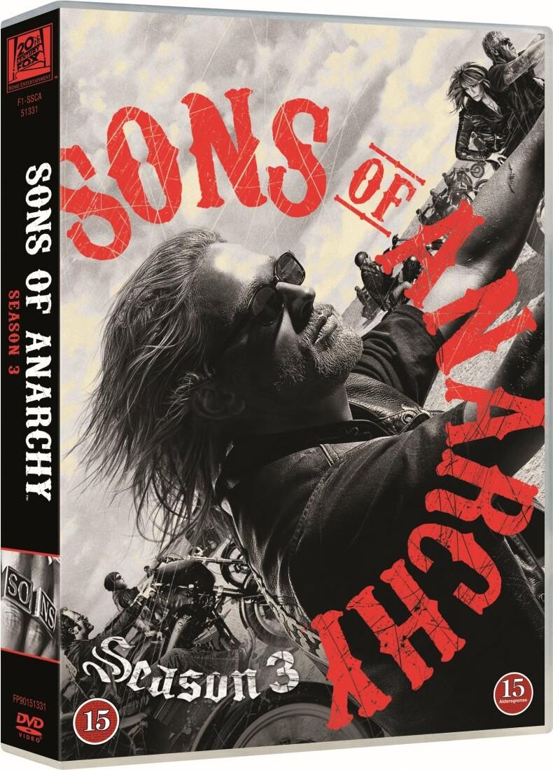 Billede af Sons Of Anarchy - Sæson 3 - DVD - Tv-serie