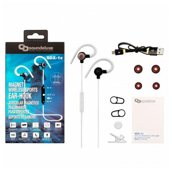 Billede af Soundeluxe - Trådløs Sports Høretelefoner - 4 Timer - Sdx-1c - Hvid