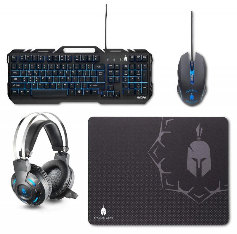 Image of   Spartan Gear Hydra Gaming Pakke Med Tastatur, Mus, Høretelefoner Og Musemåtte Til Pc