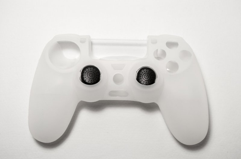 Image of   Playstation 4 Controller Skin - Inklusiv 2 Thumb Grips - Spartan Gear