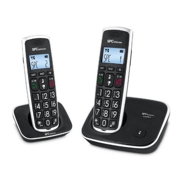 Image of   Spc - Trådløs Fastnettelefon - Sæt Med 2 Stk - 7609n - Sort