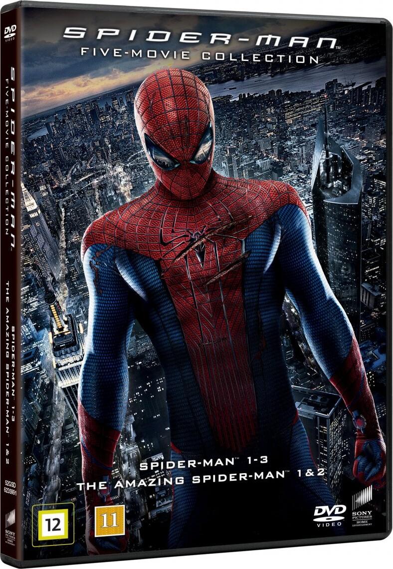 Køb Spider-man 1-3 + The Amazing Spider-man 1+2 - DVD - Film til 99,95 kr.