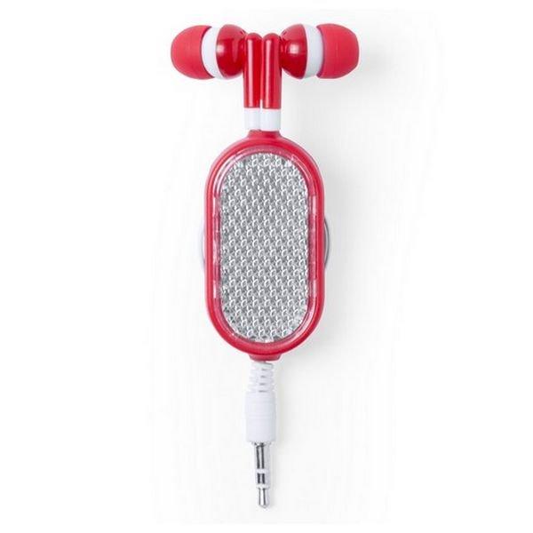 Billede af Sports Høretelefoner Med Forlængerledning Og Jackstik - Rød
