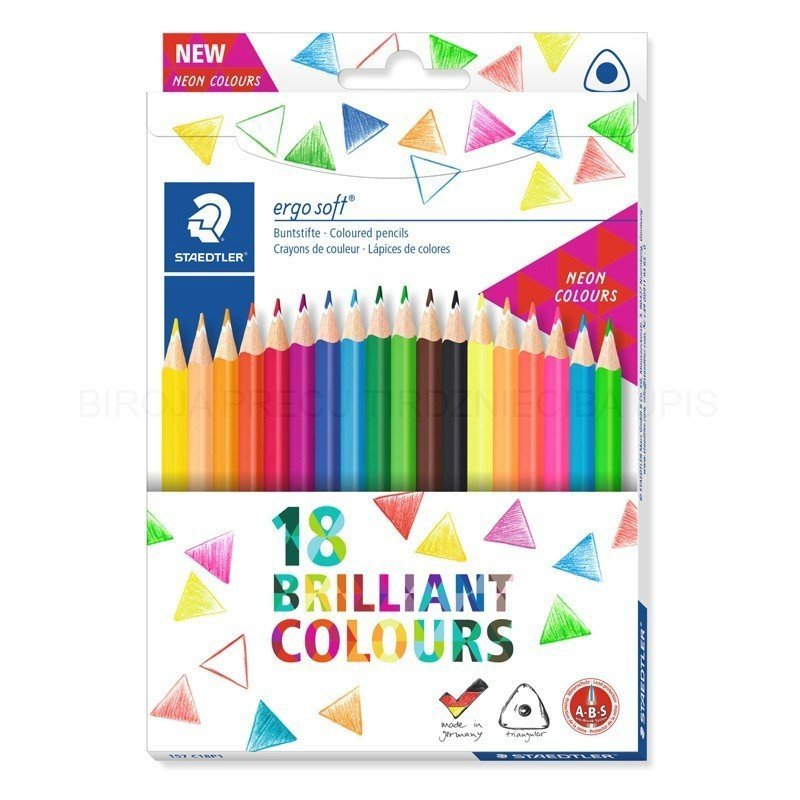 Image of   Staedtler - Coloured Pencil Ergosoft 18 Pcs Fsc 100% (157 C18p1)