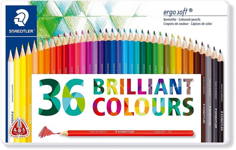 Image of   Staedtler - Coloured Pencil Ergosoft 36 Pcs Fsc 100% (157 M36)