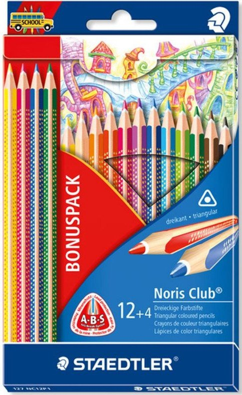 Image of   Staedtler - Coloured Pencil Nc 16 Pcs 100% Pefc (127 Nc12p1)