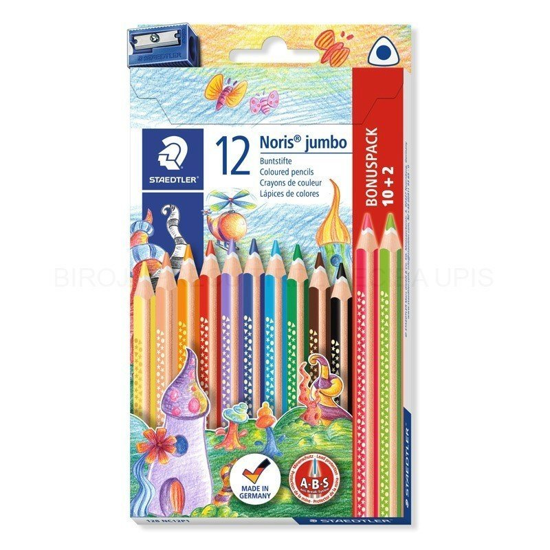 Image of   Staedtler - Coloured Pencil Noris Jumb Fsc 100% (128 Nc12p1)