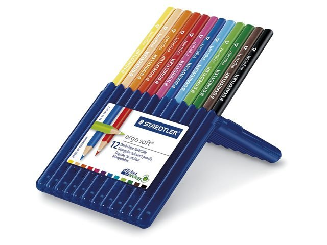 Image of   Staedtler Ergosoft Jumbo Coloured Pencils / Farveblyanter - 12 Stk.