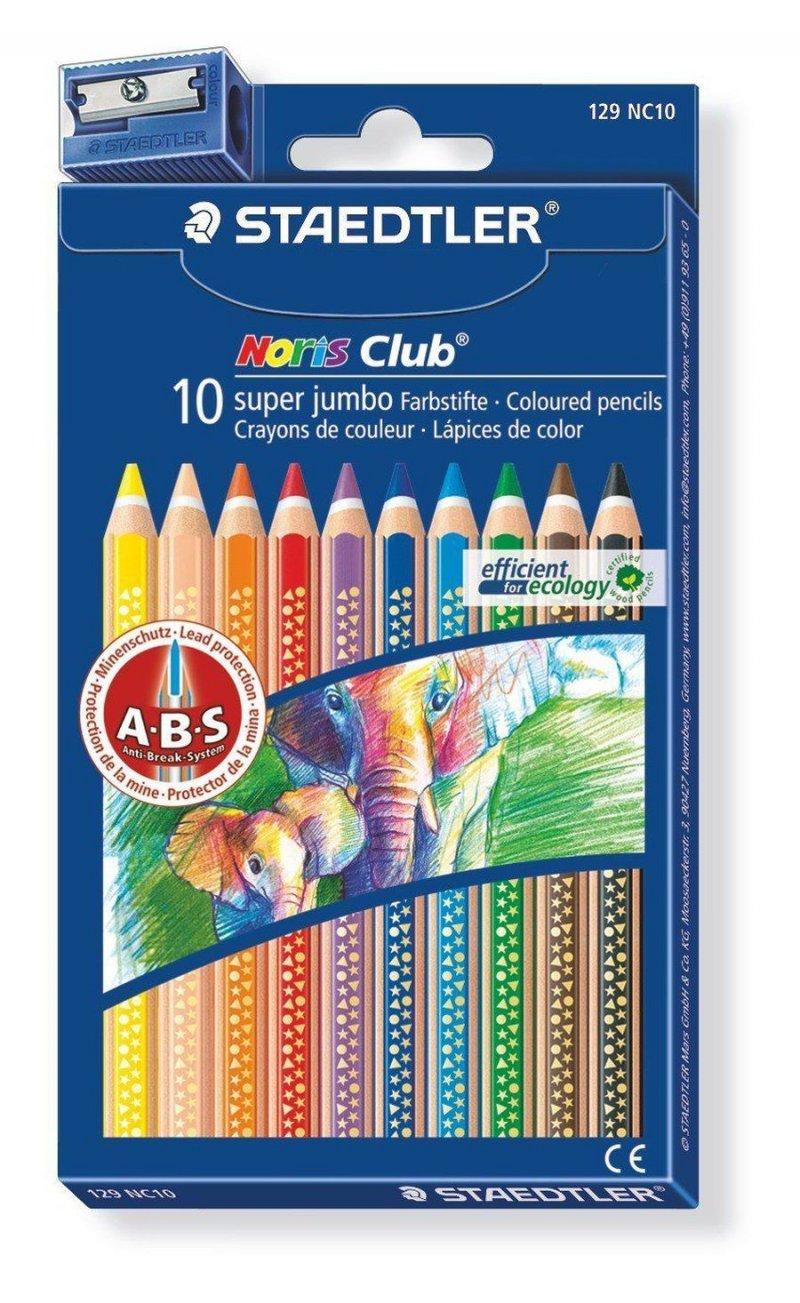 Staedtler Jumbo Farveblyanter - 10 Stk.