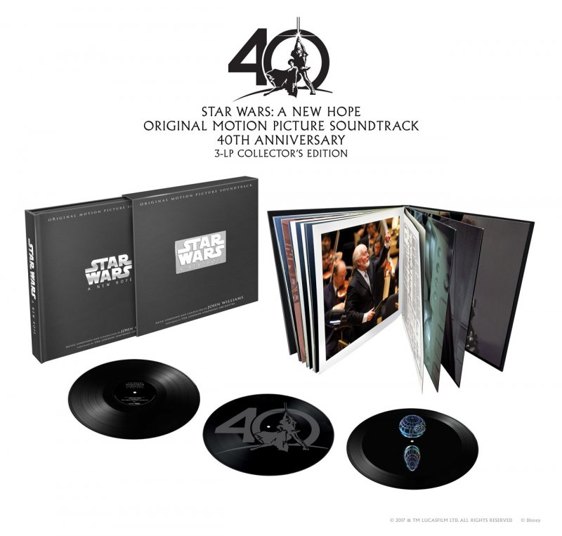 Star Wars A New Hope Soundtrack - 40th Anniversary Edition - Vinyl / LP
