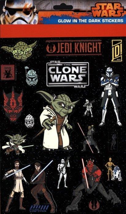star wars the clone wars, yoda, darth vader, obi-wan, klistermærker til væg