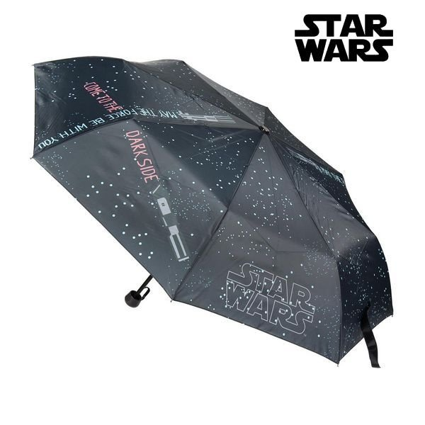 Star Wars Paraply - Foldbar - Grå Sort