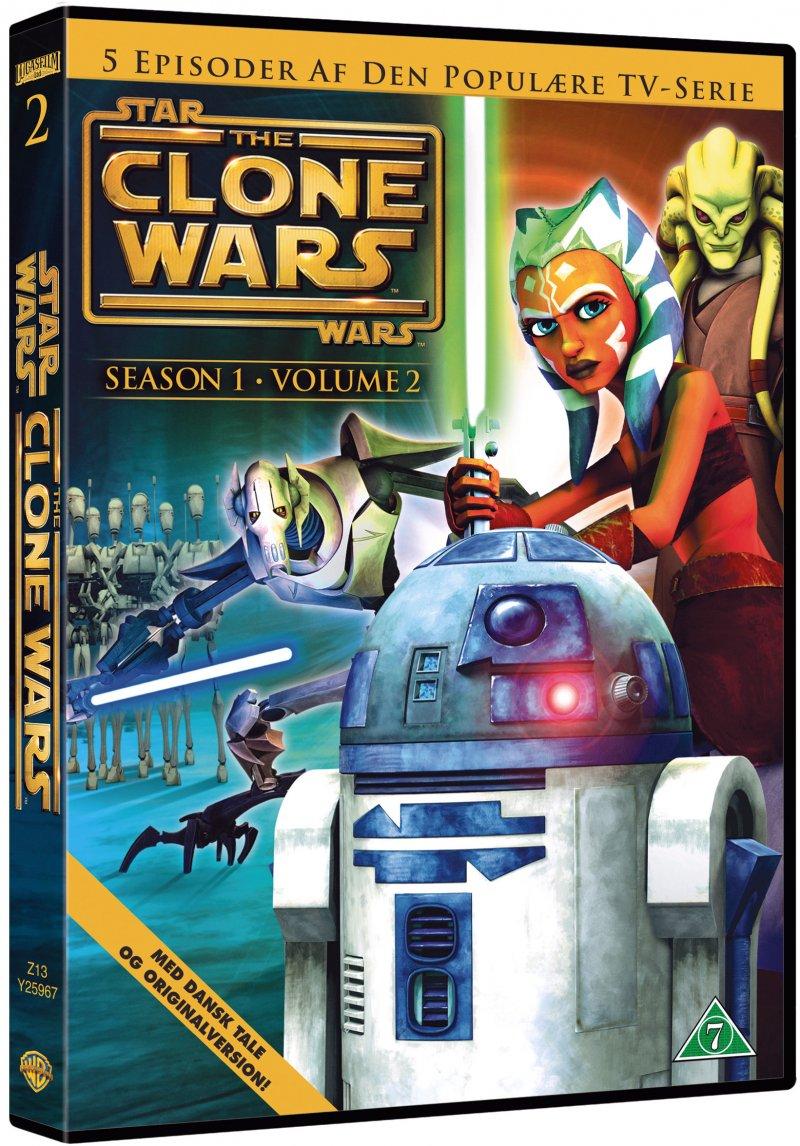Billede af Star Wars - The Clone Wars - Sæson 1 Vol. 2 - DVD - Film