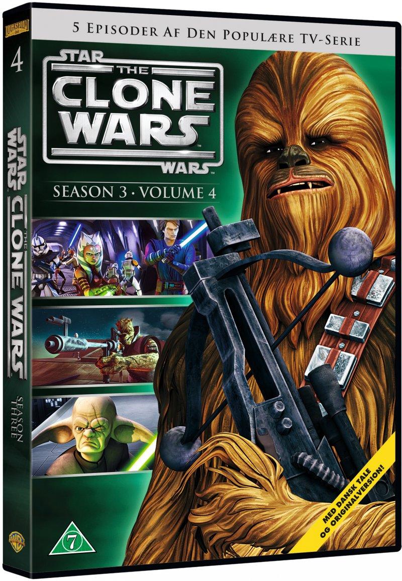 Star Wars: The Clone Wars - Sæson 3 Vol. 4 - DVD - Film